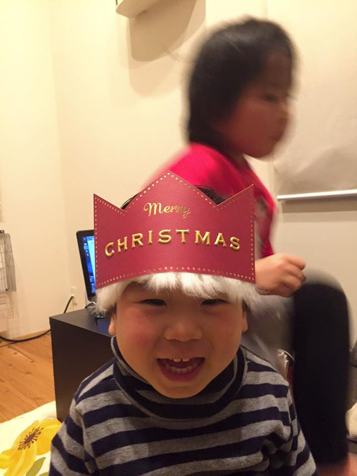 クリスマスにご機嫌な息子