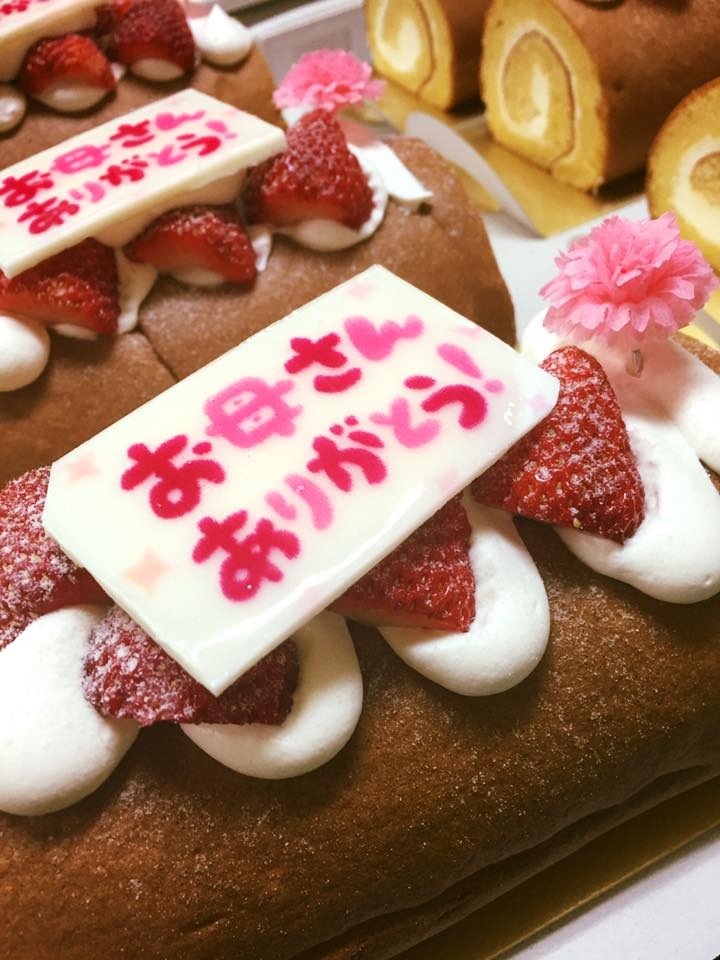 母の日のロールケーキ