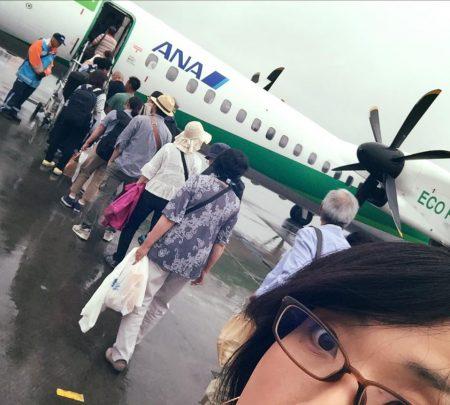札幌ー新潟の飛行機ちっちゃ!