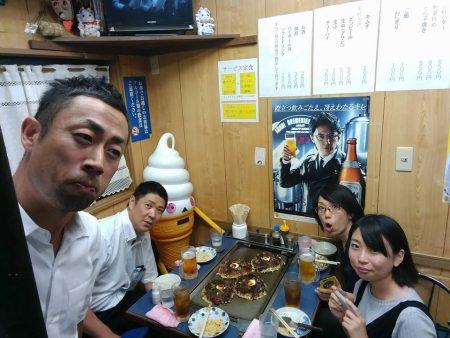 モンガ君とお菓子のミカタメンバとお好み焼き!