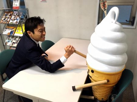 社長の松浦さん現れる